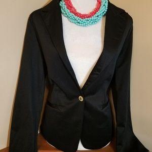Zara Woman 100% Cotton Blazer Size L